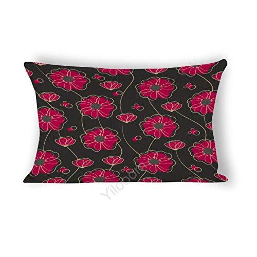 Funda de cojín rectangular de 30,5 x 45,7 cm, para cama, sofá, coche, decoración del hogar, color fucsia