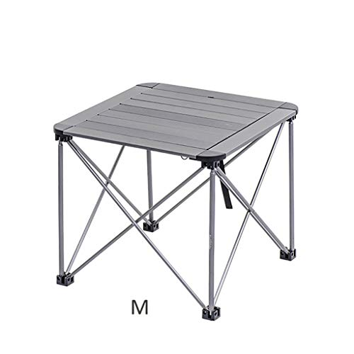 Mesa de Centro Picnic Que acampa del jardín al Aire Libre de la Bandeja del Soporte de la Mesa de Aluminio Plegable Mesitas de salón para el café (Size : A)