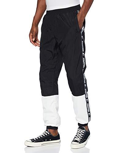 STARTER BLACK LABEL Two Toned Jogging Pants Pantaloni da Tuta, Nero/Bianco, XL Uomo