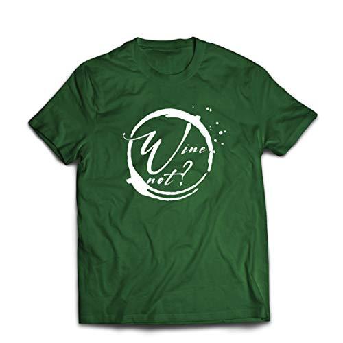 lepni.me Maglietta da Uomo Vino No Amante Dellalcool Ingegno Bere Citazione di Scherzo (Medium Verde Scuro Multicolore)