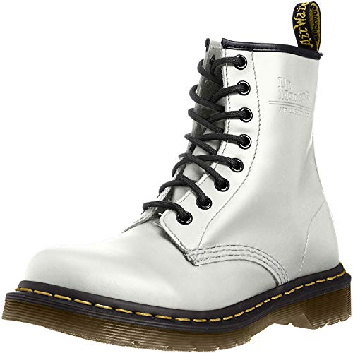 Dr. Martens 1460 Smooth, Stivaletti Unisex Adulto, Bianco, 36