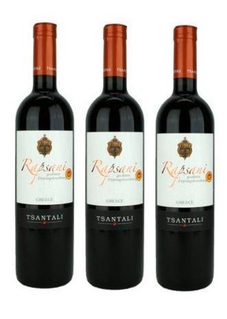 3x Rapsani Olympos Rot Rotwein je 750ml 13% Tsantali trocken roter Wein Griechenland trocken + Probier Sachet Olivenöl aus Kreta a 10 ml