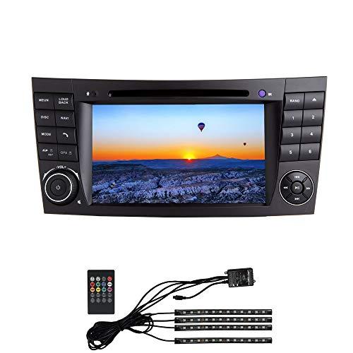 W-bgzsj Android 7.1 Coche Estéreo 7'en Dash Autoradio 2 DIN Head Unit RAM 2G Sat Nav GPS Navegación con Reproductor de DVD para Mercedes Benz E-W211 / E200 / E220 / E240 / E270 / E280