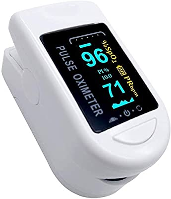 Portable Fingertip Saturation Monitors OLED Display for Home, Superior Measuring Accuracy Exquisite, Compact and Lightweight Recorder, Without Battery, White