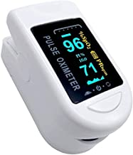 Oxygen Levels and PR Monitor LED Display, Superior Measuring Accuracy Exquisite, Compact and Lightweight SpO2 & PR Rate Recorder, Heart Rate Monitor, Black