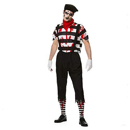 Karnival Kostuums 84186 Halloween Zombie Mime Guy Kostuum