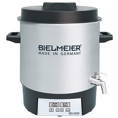 BIELMEIER Einkochautomat 1800 W 27 Liter Auslaufhahn Edelstahl 3/4