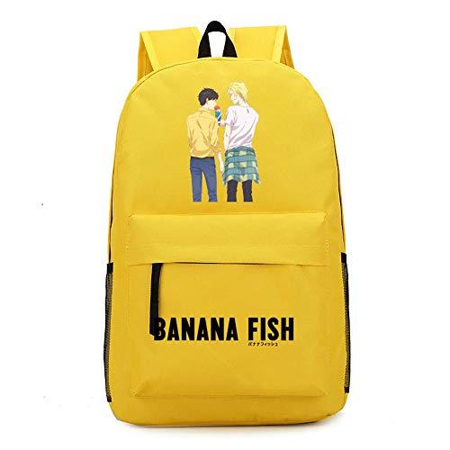 Anime Banana Fish Leinwand Rucksack Cosplay Schultaschen Anime Laptop Rucksack Unisex Reiserucksack Frauen Umhängetaschen