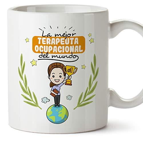MUGFFINS Taza Terapeuta Ocupacional Mujer (Mejor del Mundo) - Regalos Originales y Divertidos de Terapia Ocupacional