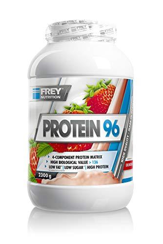 Frey Nutrition Protein 96 Erdbeer Dose, 1er Pack (1 x 2.3 kg)