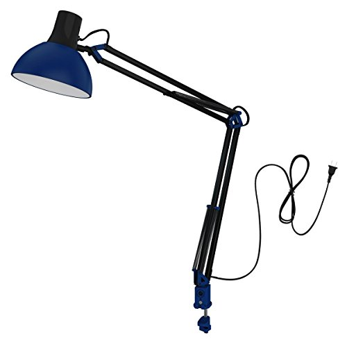 ToJane Swing Arm Desk Lamp,Multi Joint Clamp on Table Light, Architect Office/Workbench/Computer Task Light,Bulb Sold Separate