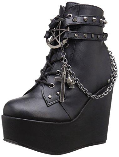 Demonia Women's Poison-101/Bvl Boot, Black Vegan Leather, 11 M US