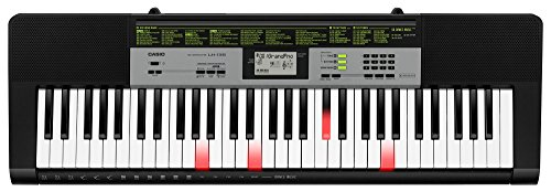 Casio LK-135 Tastiera digitale arranger polifonica 61 tasti luminosi e 23 note, Nera