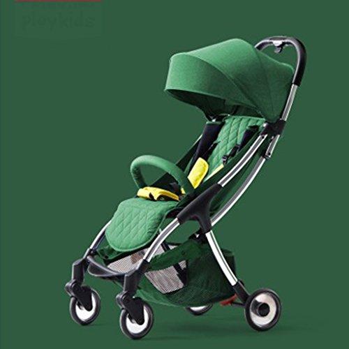 JIAO Carrito de bebé Cochecito de bebé Ligero Plegable portátil Mini 1-3 años de Edad bebé Puede Sentarse Lie Simple Paraguas del Coche del niño (Color : B)