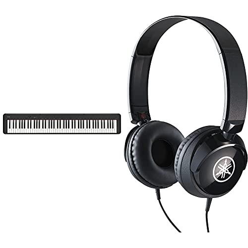 Casio Cdp-S100 Pianoforte Digitale 88 Tasti Pesati & Yamaha Hph-50B Cuffie Sovraurali, Cuffia On Ear Con Meccanismo Girevole 90°, Semplice E Compatta