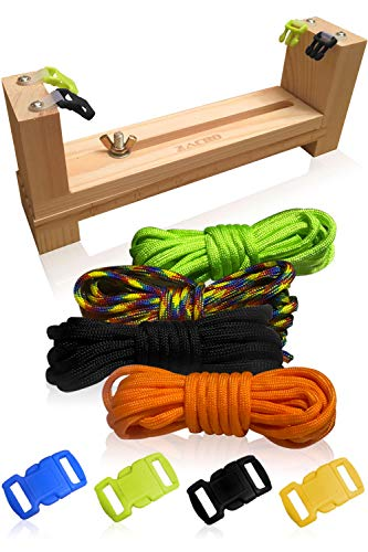 3 Bees & Me Complete Paracord Bracelet Making Kit - DIY Friendship Bracelet Maker with Jig