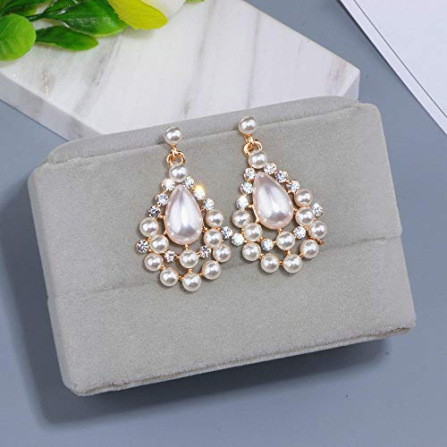 Erin Earring Fashionable Wedding Crystal Earrings Elegant Analog Pearl Earrings Pendant Serpentine Earrings Women Gift Wx091