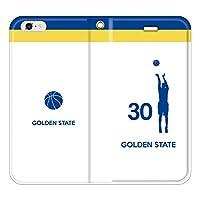 iPhone7/7Plus対応/iPhone用選択可:バスケットシルエット手帳ケース(フルカラー/ホーム/ゴールデンステイト:30番_A) iPhone SE用