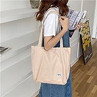 女性トートバッグ日本の女の子大容量スプライシングチェック柄ショルダーバッグカジュアルデュアルユースキャンバスバッグ (Color : Light Pink, Size : 30*10*31cm)