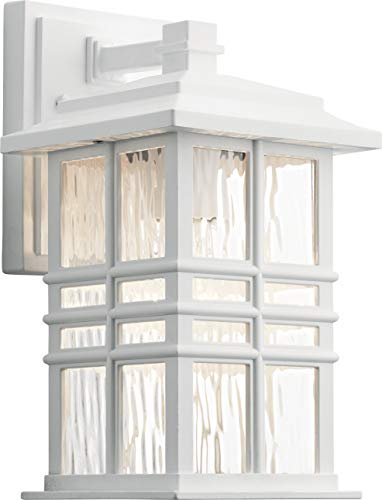 Kichler 49829WH Beacon Square Outdoor Wall Sconce, 1-Light 75 Watts, White
