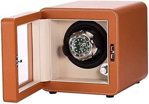 YUYANDE Reloj Winders para relojes automáticos Caja doble, Binder automático Bander Rotate Electric Gotate Box, Funda de almacenamiento de reloj giratorio, CA o batería Super silencioso motor, Caja de