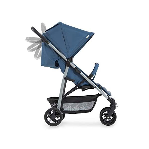 Hauck Rapid 4, 0 Months to 22 kg, Foldable, Compact, with one Hand, with Sleep Position, Height Adjustable Handle, Large Basket - denim/grey, Rapid 4, Up to 25 Kg Hauck Easy folding this pushchair is as easy to fold away as possible - the comfort stroller can be folded with one hand only within seconds, leaving one hand always free for your little ray of sunshine Long use this buggy can be used for a very long time. it is suitable from birth (also compatible with 2in1 carrycot or comfort fix infant car seat) up to a maximum of 22kg Comfortable back friendly push handle adjustable in height, the hood extendable; suspension, swivelling front wheels, soft padding, and large shopping basket 27