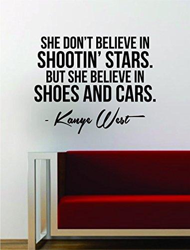 Wandaufkleber mit Zitat von Kanye West Shoes and Cars, Vinyl