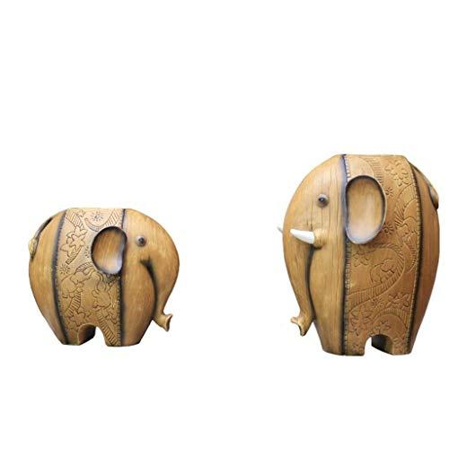 Vazen Creatieve Scandinavische Woonkamer Eettafel TV Kabinet Olifant Thuis Wijnkast Decoratie Ambachten Tweedelige (olifant + Kleine Olifant) Woonaccessoires