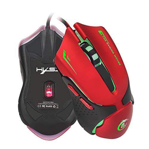 LYHLYH Gaming-Maus, QueenDer USB Wired Mouse Professional Ergonomische optische Computer-Maus 4 DPI Einstellbare LevelPolling Rate für Windows 7/8/10/2000 / XP/Vista Mac