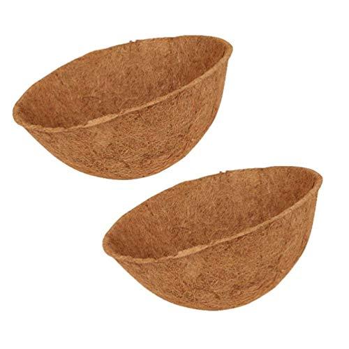 2 szt. Coco Liner Wymienna wkładka z włókna kokosowego, kosz do zawieszania towarów wymiana wkładki, naturalny kokosowy kosz na rośliny wkładka do dekoracji domu na zewnątrz ogrodu