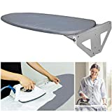 Lehom Ironing Board Wall Mounted Ironing Board Fold Iron Board Lifting Concealed Iron Board Heat Resistant Cotton Fabric Cover Space Saving White