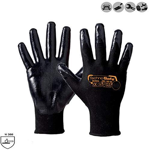 guanti lavoro nitrile Palucart Guanto da lavoro nero con palmo ricoperto in nitrile filo continuo di poliammide dorso areato elevato grip 12 paia (7)