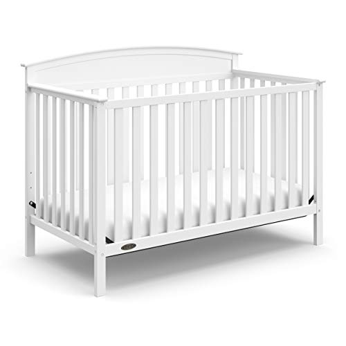 Graco Benton 4-in-1 Convertible Crib, White, Solid Pine and Wood Product Construction, Converts to Toddler Bed or Day Bed (Mattress Not Included)
