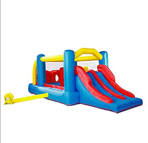 AIYIFU Castillo Hinchable Up Cama Elástica con Tobogán para Niños Centro Juegos Hinchable Juego Niño de 3 a 10 Años para Parque Patio Jardín,