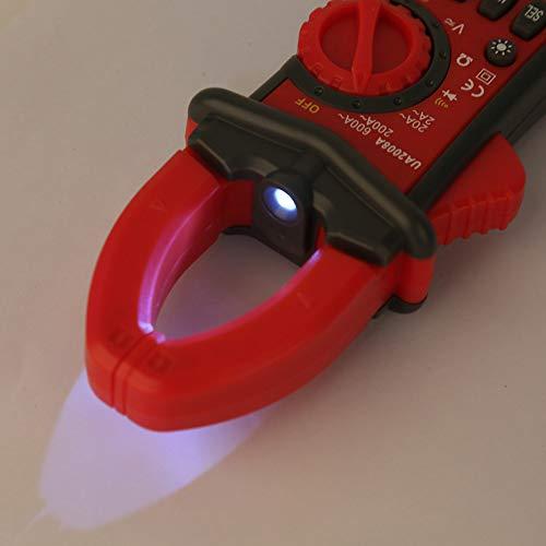 Multímetro probador de CA CC, pinza amperimétrica digital, indicador de batería baja, multímetro automático de mano para probar equipos eléctricos para medir voltaje CA CC