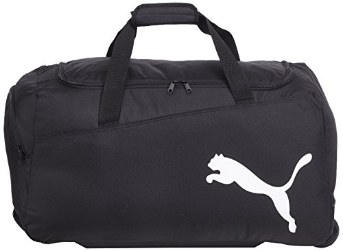 PUMA, Borsa sportiva con rotelle Pro Training Medium, Nero (black-Black-White)