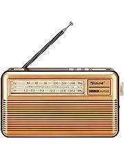 ポータブルラジオFM/AM/SW ラジオ USB/SDカード対応MP3プレーヤー 懐中電灯 電池式 USB充電/太陽光充電対応 レトロラジオ 横置き型 携帯 学習 災害用