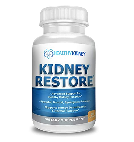 Kidney Restore Kidney Cleanse and Kidney Health Supplement to Support Normal Kidney Function, Vitamins for Kidney Health 60 caps