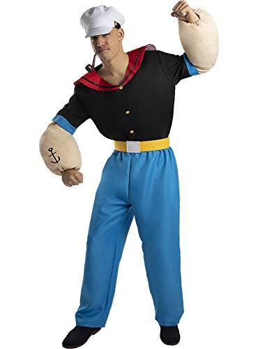 Funidelia | Disfraz de Popeye Oficial para Hombre Talla M Popeye, Dibujos Animados - Multicolor