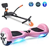Windgoo Hoverboard 6.5' Auto Equilibrio Eléctrico Scooter Talla LED, Overboard Eléctrico Self-Balance (Rosa)