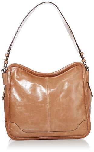 "glazed antiqued leather hobo 1 interior zip pocket, 2 interior slip pockets, 1 exterior slip pocket Dimensions: 11.75""H 12.6""W x 4.75""D strap drop 10"""