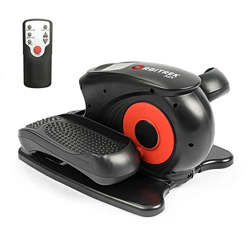 Orbitrek MX | Mini eliptica portátil | Movimiento eliptico asistido | 3 modos de entrenamiento y 5 velocidades | Color Negro