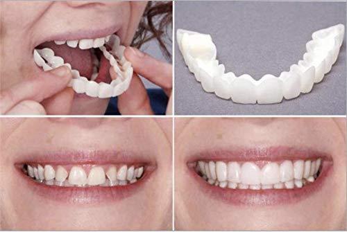 XQYPYL Diseño Práctico Hombres Mujeres Diente Instantáneo Sonrisa Confort Ajuste Flex Dientes Se Adapta a Blanquear Sonrisa Falsos Dientes Cubrir