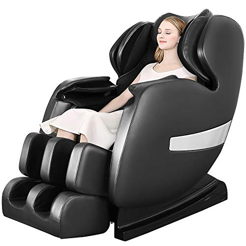 OOTORI Deluxe S-Track Massage Chair Recliner with 3D Robot Hand, Zero Gravity Full Body Air Massage, with Stretch Heating Vibrating Function(A600-Black)