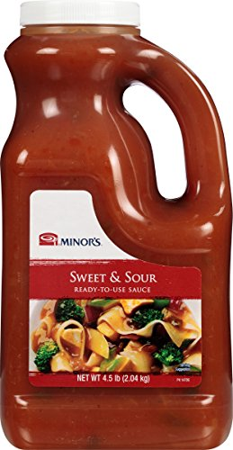 Minor's Sweet and Sour Sauce and Marinade, Authentic Bold Asian Flavor with Pineapple, 4.5 lb Bulk Bottle