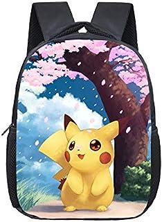 LINJIA Pokemon Mochila Mochila pequeña Infantil de 12 Pulgadas Pokemon Pikachu Kindergarten para niños, Mochilas Escolares...