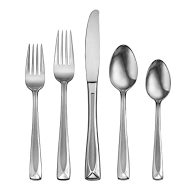 Oneida Satin Lincoln 45-Piece Flatware Set, Service for 8