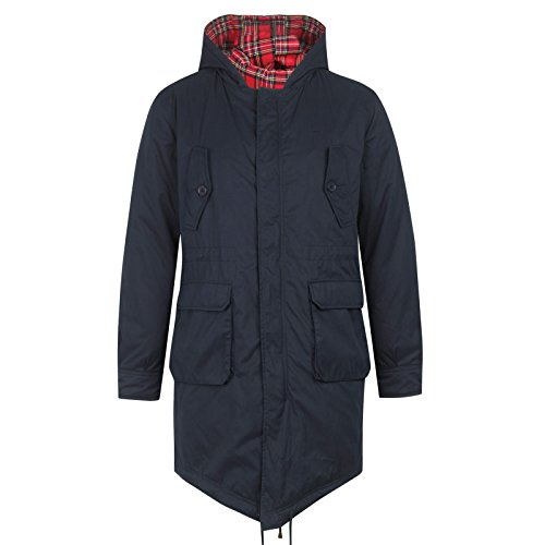 MERC LONDON QUEUE DE POISSON PARKA AVEC CAPOT TOBIAS - BLEU MARINE - XS