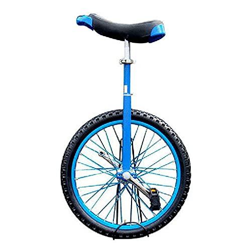 Monociclo Azul Monociclos Extra Grandes para Exteriores para Niño/Niña/Principiante - Rueda de 24in/18in, Uniciclo con Estructura de Acero al Manganeso, Mejor Regalo de Cumpleaños ( Size : 18 Inch )