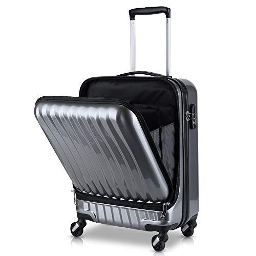 TABITORA(タビトラ) スーツケース 機内持込 トップオープン フロントオープン 人気 ビジネス 出張 レトロ ...